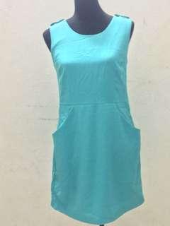Cyan sleeveless dress