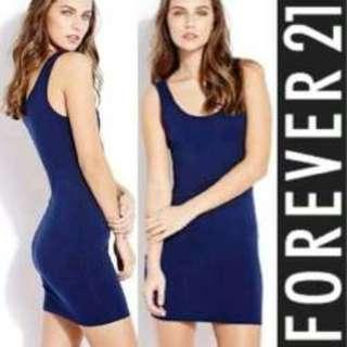 Forever 21 Blue Bodycon minidress