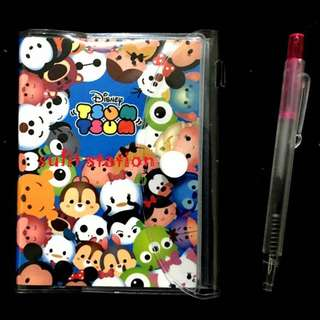 TSUM TSUM MINI NOTEBOOK with PEN