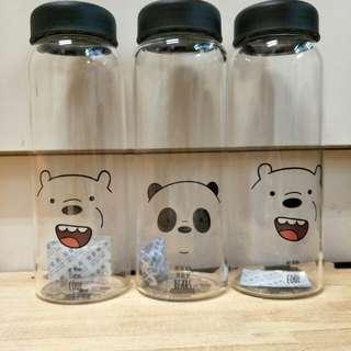 🚚 全新 正版 熊熊遇見你 熊熊三賤客 玻璃水壺 450mL