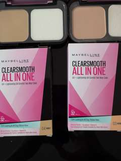 Maybelline clearsmooth all in one uv+lightening oil control two way cake