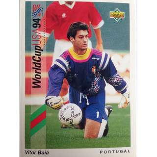 Victor Baia (Portugal) - Soccer Football Card #92 - 1993 Upper Deck World Cup USA '94 Preview Contenders