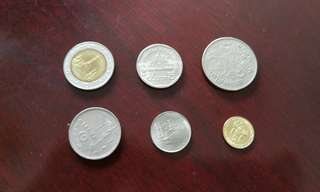 Thailand Baht vintage currency coin set (6 pcs)泰币