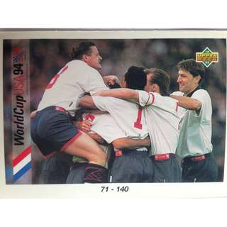 71 - 140 Checklist Soccer Football Card #90 - 1993 Upper Deck World Cup USA '94 Preview Contenders