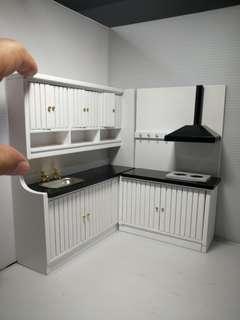 1/12 Dollhouse miniature furniture : modern kitchen