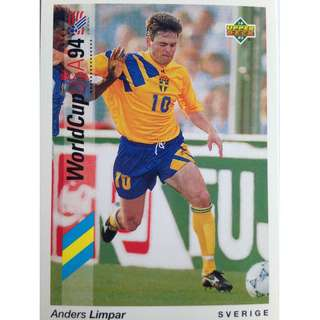 Anders Limpar (Sweden) - Soccer Football Card #89 - 1993 Upper Deck World Cup USA '94 Preview Contenders