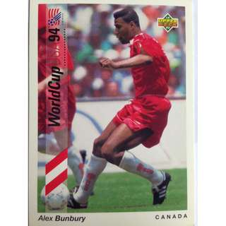 Alex Bunbury (Canada) - Soccer Football Card #88 - 1993 Upper Deck World Cup USA '94 Preview Contenders