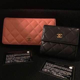 BUNDLE 2 Auth Chanel Wallets