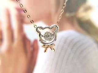 🐻小熊💎靈動蘇聯鑽石純銀項鍊