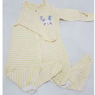 Mothercare Yellow Bunny Longsleeves Onesie Pajamas