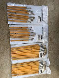 Painting Brushes Set For School Art (4 Sets of 12 pcs at $8)