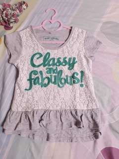 MISS CUPCAKE Classy and Fabulous Top (6Y)
