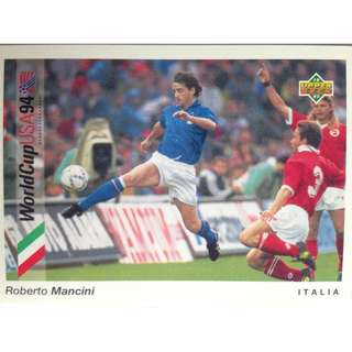 Roberto Mancini (Italy) - Soccer Football Card #86 - 1993 Upper Deck World Cup USA '94 Preview Contenders