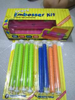 Craft embosser kit+ 4 different patterns
