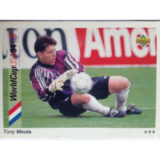 Tony Meola (USA) - Soccer Football Card #85 - 1993 Upper Deck World Cup USA '94 Preview Contenders