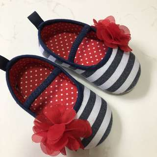 Baby Girl Stripes Pump Shoes