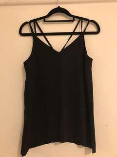 Black silk singlet