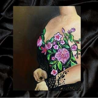 Lace Kebaya Oil Painting