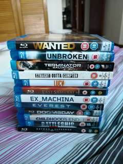 Selection of Blu Rays