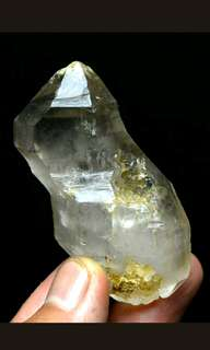 Rare Natural Skeletal Elestial Quartz Crystal Double end Terminated Clear Mineral Specimen