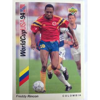 Freddy Rincon (Colombia) - Soccer Football Card #83 - 1993 Upper Deck World Cup USA '94 Preview Contenders