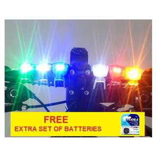 Bicycle Frog Lights (1 pc with extra set of batteries)