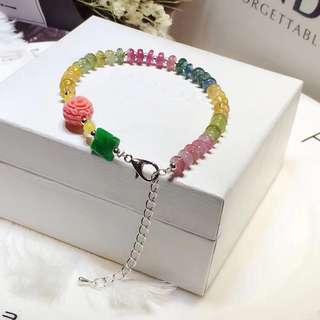 彩虹🌈天然糖果色碧壐手鏈