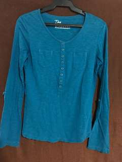 GIORDANO Blue Long Sleeves