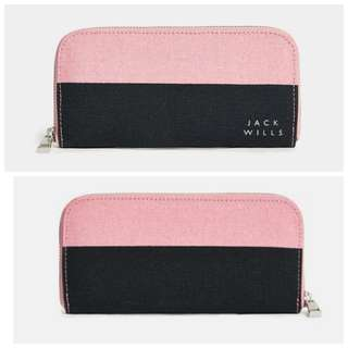 Jack Wills Wallet pink/navy color from UK