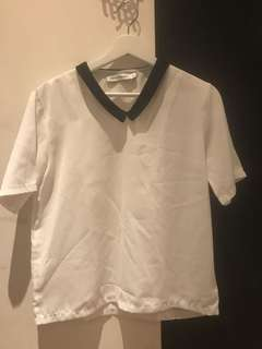 cotton ink top white
