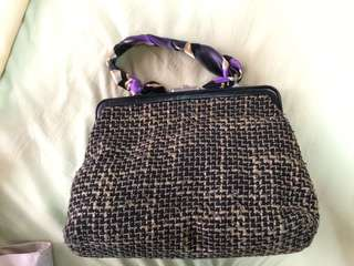 Authentic mango tweed hand bag