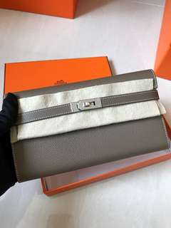 Hermes Kelly wallet 大象灰