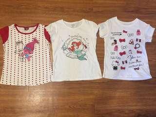 UNIQLO & Trolls Girls T-shirt's (130cm)