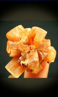 Nice red Orange Radial ARAGONITE Crystal cluster mineral specimen