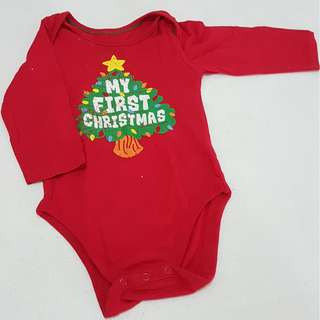 Unisex My First Christmas Longsleeves Onesie
