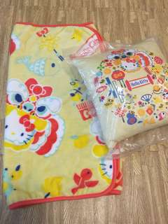 Hello kitty blanket and cushion