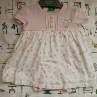 Mothercare Pastel Pink Dress Romper (6-9 Months) Price Include Delivery