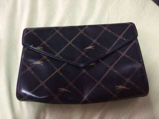 Authentic longchamp clutch bag genuine leather purse