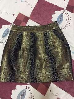 Club Monaco gold skirt