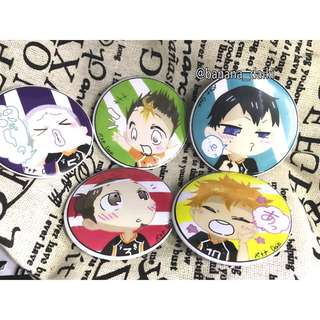 Haikyuu buttons set A