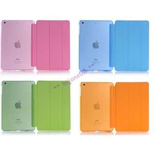 APPLE 蘋果 iPad mini 1/2/3 保護套 Smart Case 磨砂透明背殼 智能開關 (包平郵) 保護殼 Smart Cover