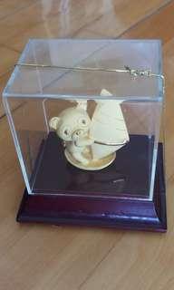 熊貓帆船K金擺設