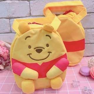 迪士尼維尼手提袋 日本 正版 迪士尼 維尼手提袋  維尼便當袋 手提袋 便當袋 餐袋 提袋