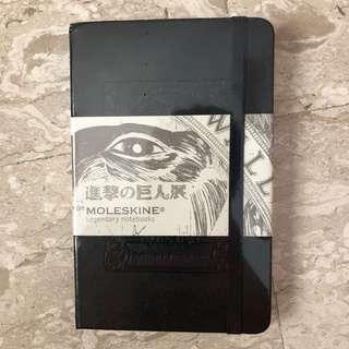 Attack of Titan moleskin notebook