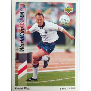 David Platt (England) - Soccer Football Card #75 - 1993 Upper Deck World Cup USA '94 Preview Contenders