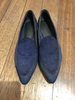 Navy Blue Gamosa Shoes feom Charles and Keith