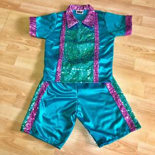 Fun Costume apparel for boy - purple and turquoise sequin