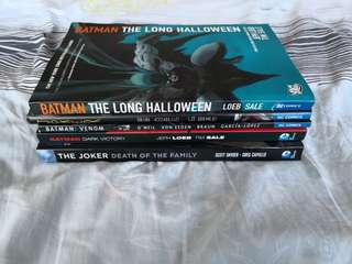 Various DC Batman Graphic Novels