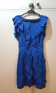 PORTMANS Blue Ruffled Dress