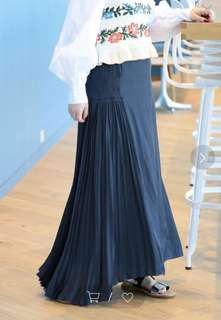 Ray Beams RBS 同款 灰藍色 百摺裙 Skirt initial